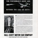 1943 WW II Hall- Scott Motor Car Company Ad- Invader Engines