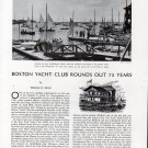 1941 Boston Yacht Club Rounds Out 75 Years Article By William U Swan