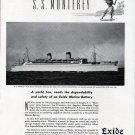 "1941 Exide Ironclad Marine Batteries Ad- The S.S. ""Monterey"""