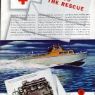 1944 WW II Sterling Engine Co Color Ad- Navy Aircraft Rescue boat