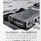 1942 Chris- Craft Boats Ad- Showroom Sales & Service Theme