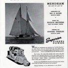 """1942 Superior Diesel Engines Ad- Hogdon Bros. Yacht """"Mendham"""""""