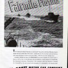 1945 WW II Hall- Scott Motor Car Co Ad- Fairmile Flotilla