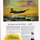 "1943 WW II Electronics Laboratories Inc Color Ad- ""Game Goose"" War Plane"