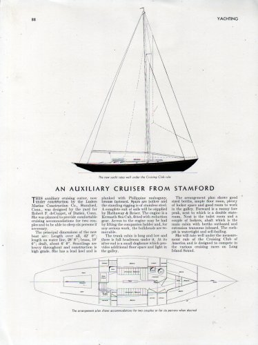1940 Luders Marine Construction Co 42' Auxiliary Cruiser Review