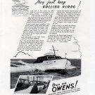 1941 Owens Yacht Company Ad