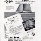 "1941 Valspar Yacht Finishes Ad- Hubert Johnson Yacht ""Teal"""