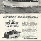 "1951 Richardson Boat Company Ad- The ""28"" Express"