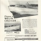 1951 Welin Davit And Boat Ad- The Welin 26' Cruiser