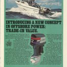 1981 Evinrude Outboards Color Ad- The V6 225 HP Outboard Motor-Aquasport Boat