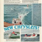 1968 Chrysler Marine Corp 2 page Color Ad- The New Outboard Motors