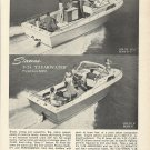 1966 Stamas Boats Inc Ad- V-24 Clearwater & V-25 Americana