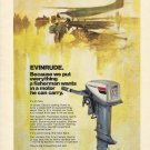 1974 Evinrude Outboards Color Ad- 15 HP Outboard Motor- Seaplane