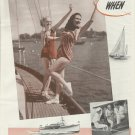 1945 Marine Products Co. 2 Page Ad- Chris- Craft Boat & Hot Girls