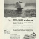 1945 Churchward & Co Ad- Steelcraft 26' Cruiser- Specs