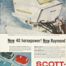 1967 Scott- Atwater Outboard Motors 3 Page Color Ad- 40 HP