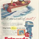 1955 Evinrude Outboard Motors 2 Page Color Ad- The Big Twin