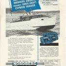 """1954 Nordberg Marine Engines Ad- Chris- Craft Express Cruiser """"Paradox"""""""