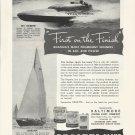 "1950 Regatta Yacht Paints Ad- Hydroplane ""My Sweetie""-Yacht ""Baruna"""