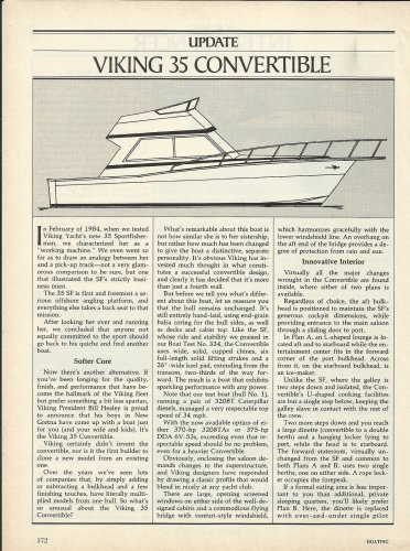 1985 Viking 35 Convertible Yacht Review & Specs