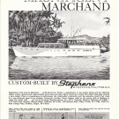 1961 Stephens Yachts Ad- The 65' Marchand