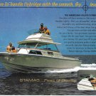 1971 Stamas Boats Inc Color Ad- The Americana Deluxe Flybridge