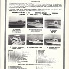 1972 Tidewater Marine Company Ad Featuring Pacemaker Yachts-6 Models