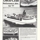 1977 Harris Deck Boats Ad- 17'- 19' & 21'