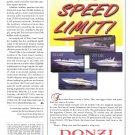 1998 Donzi Marine Color Ad- Donzi 30 ZF- 21 LXR- 275 LXC & 33 ZX