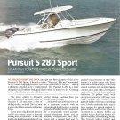 2009 Pursuit S 280 Sport Boat Review & Specs- Photos