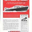 1948 Texaco Marine Ad Featuring Hubert Johnson Sea Skiff Cruiser