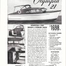 1954 Olympia Yachts Ad- The 21' Inboard & Outboard Cruiser- Specs
