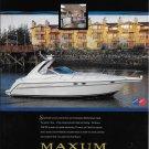 1998 Maxum Boats color Ad- The 3700 SCR