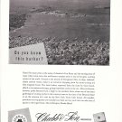 1957 Chubb & Son Insurance Ad-Great aerial Photo of Newport Rhode Island