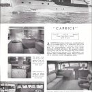 "1952 Burger Boat Company Ad- The 53' Cruiser ""Caprice"""