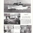 "1952 Henry C Grebe Yacht Ad- The 53' ""Ilys"""