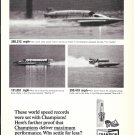 Old Champion Spark Plugs Ad-Htdeoplanes Starflite IV-Miss U.S. 1- The Hustler