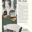 1958 Scott- Atwater 60 HP. Outboard Motor Color Ad