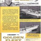 1960 Crosby Aeromarine Co Ad- Crosby 19' Ranger & 17' Fish-N-Ski Boats