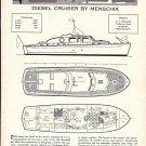 1961 A. V. Menschik 53' Diesel Cruiser Yacht Review & Specs