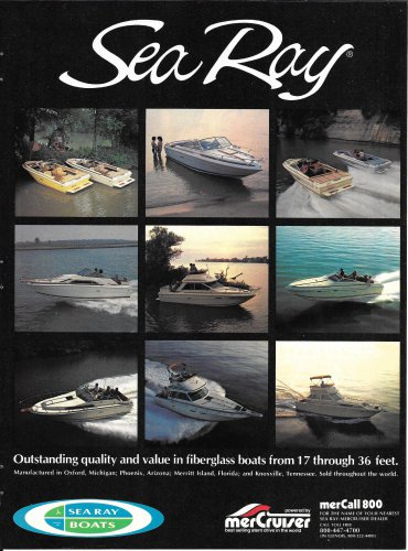 1982 Sea Ray Boats Color Ad- 11 Models