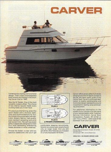 1982 Carver Boat Corp. Color Ad- The 30' Sedan