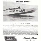 1965 Crusader Marine Engines Ad- The U-366- Rayson Craft Racing Boat