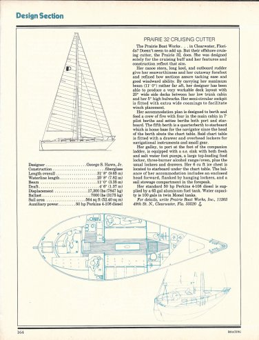 1977 Prairie Boat Works 32 Cruising Cutter Boat Review & Specs