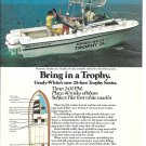1985 Grady- White Boats Color Ad- The Trophy 25 With Johnson Outboards