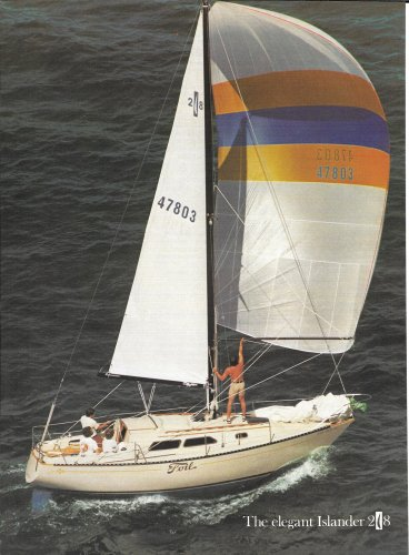 1976 Islander Yachts 2 Page Color Ad- The Islander 28
