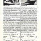 1982 Sea Craft Angler 20 & Superfisherman 23 New Boats Reviews & Specs-Photos