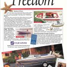 1989 Four Winds Boats Color Ad- Freedom 150- 195 & 170