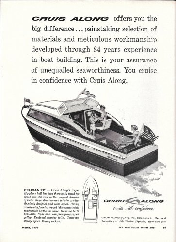 1959 Cruis Along Boats Ad- The Pelican 22'