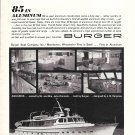 "1968 Burger Boat Company Ad- The Burger 85' ""Aquarius"""
